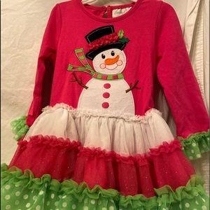 Emily Rose snowman toddler dress size 4